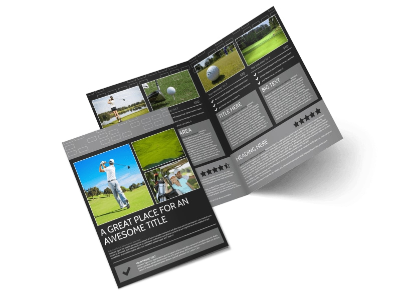 Golf course bi fold brochure template for Golf brochure template