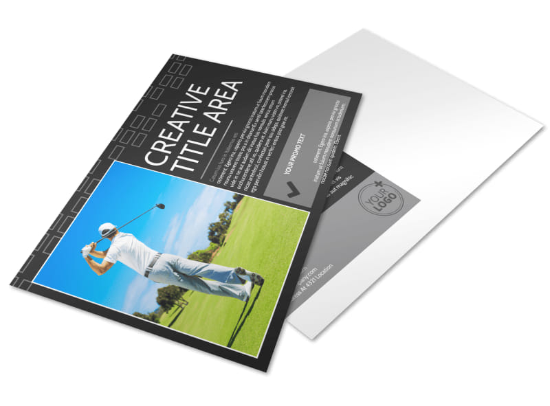 Golf Course Postcard Template Preview 4