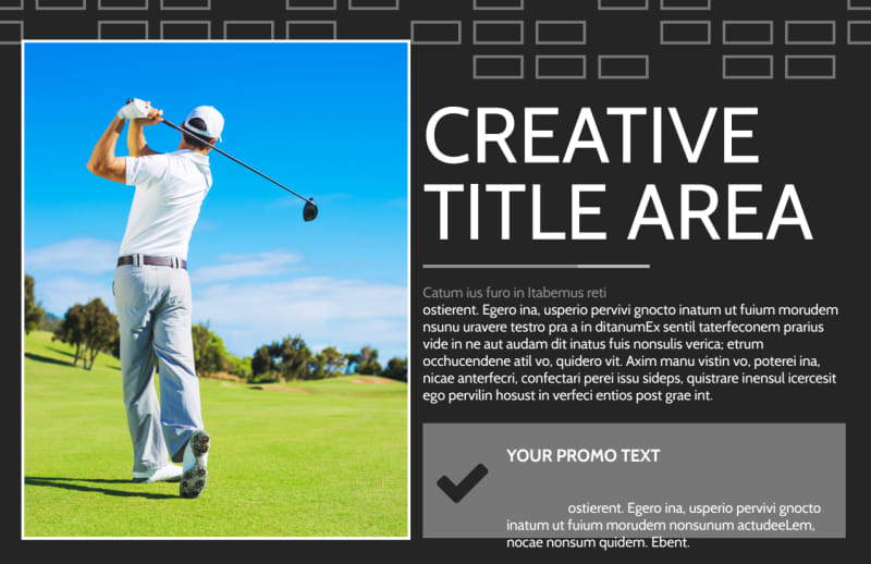 Golf Course Postcard Template Preview 2
