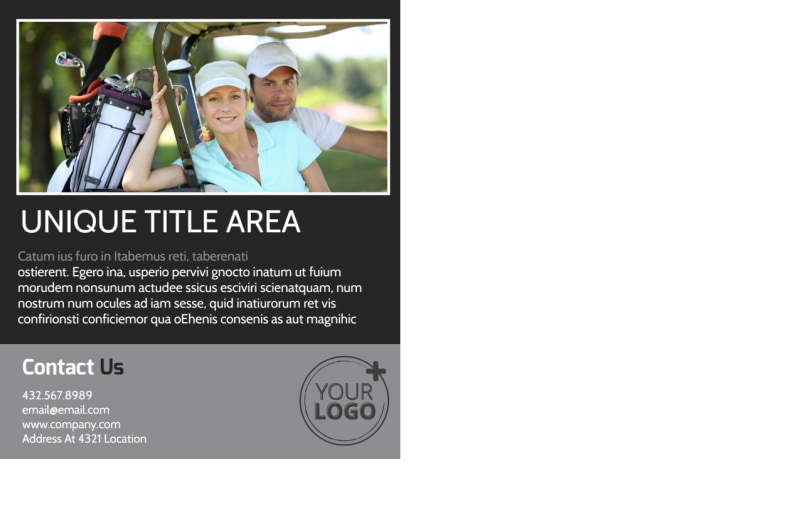 Golf Course Postcard Template Preview 3