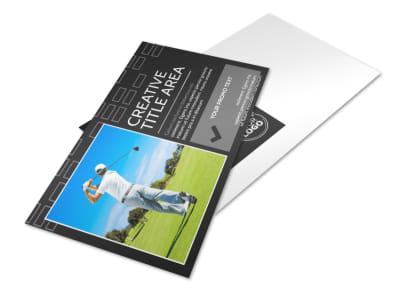 Golf Course Postcard Template