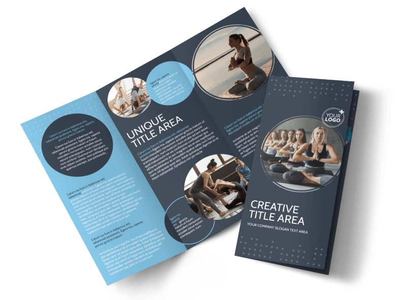 Yoga Center Brochure Template Preview 4