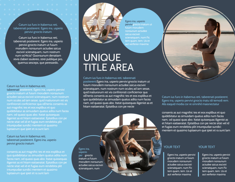 Yoga Center Brochure Template Preview 3