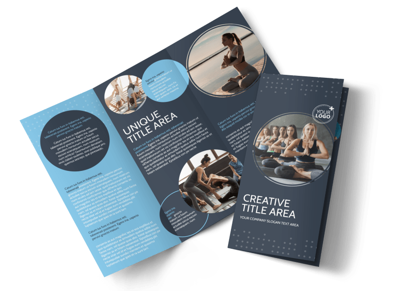Yoga Center Brochure Template Preview 1