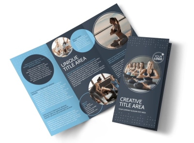 Yoga Center Tri-Fold Brochure Template preview