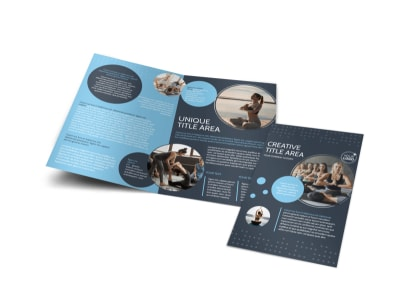 Yoga Center Bi-Fold Brochure Template preview