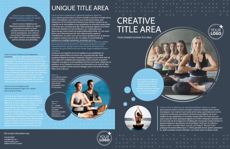 Yoga Center Brochure Template Preview 2