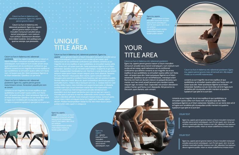 Yoga Center Brochure Template Preview 3