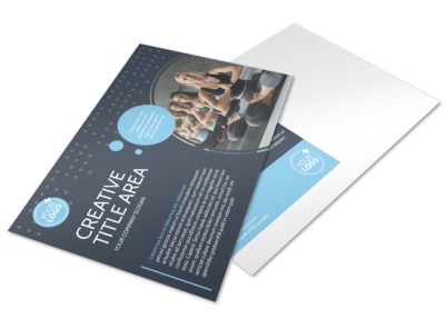 Yoga Center Postcard Template