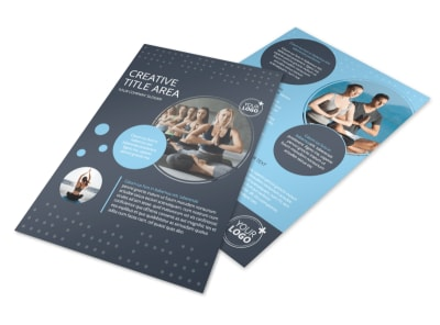 Yoga Center Flyer Template preview