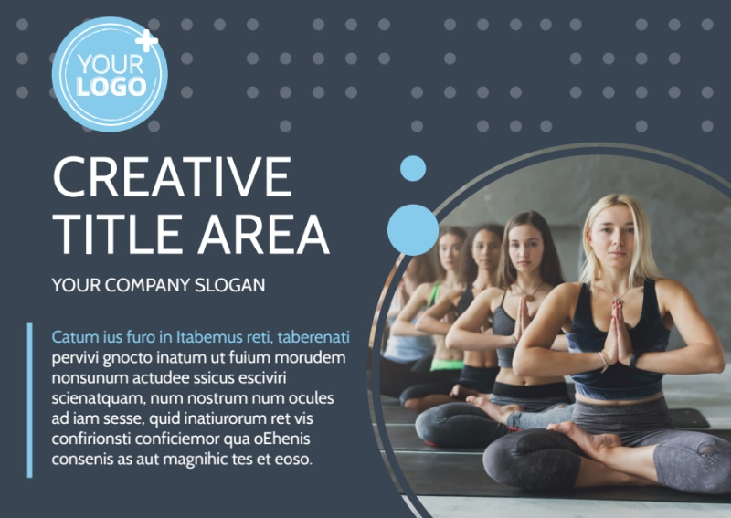 Yoga Center Postcard Template Preview 2
