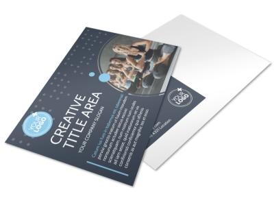 Yoga Center Postcard Template preview