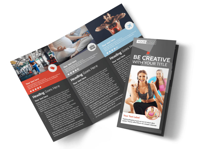 Health Club Fitness Tri-Fold Brochure Template
