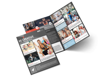 Health Club Fitness Bi-Fold Brochure Template preview