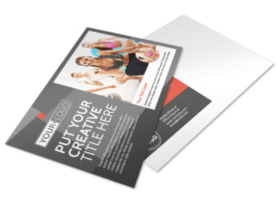 Health Club Fitness Postcard Template