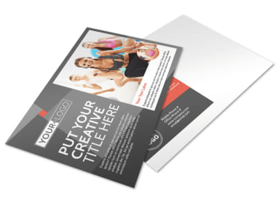 Health Club Fitness Postcard Template preview