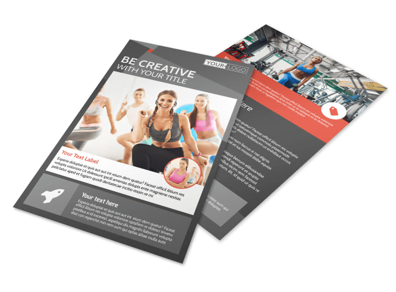 Health Club Fitness Flyer Template