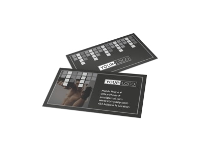 Uptempo Kickboxing Business Card Template preview