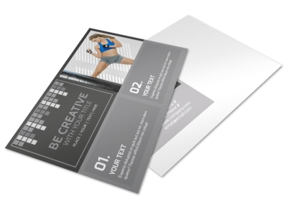 Uptempo Kickboxing Postcard Template preview