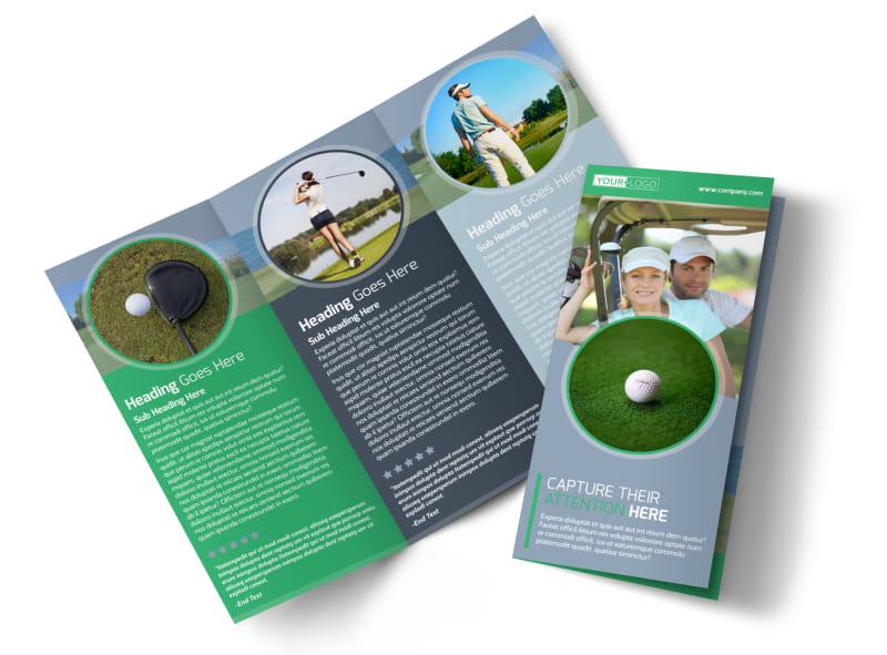 Golf Leaderboard Tournament Tri-Fold Brochure Template