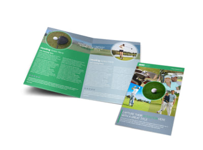 Golf Leaderboard Tournament Bi-Fold Brochure Template