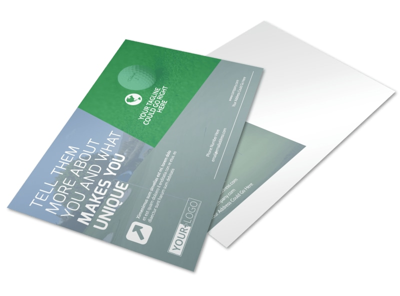 Golf Leaderboard Tournament Postcard Template