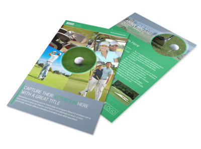 Golf Leaderboard Tournament Flyer Template preview