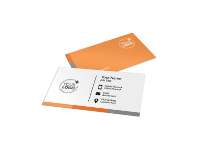 High Energy Fitness Program Business Card Template preview