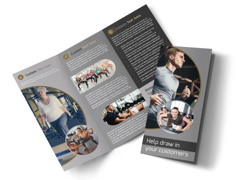 Local Health Club Tri-Fold Brochure Template
