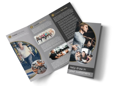 Local Health Club Tri-Fold Brochure Template preview