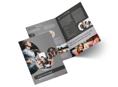 Local Health Club Bi-Fold Brochure Template preview