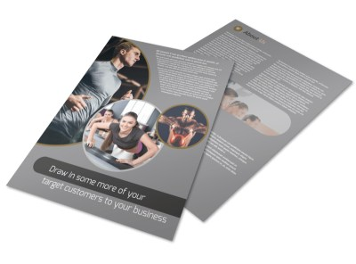 Local Health Club Flyer Template preview