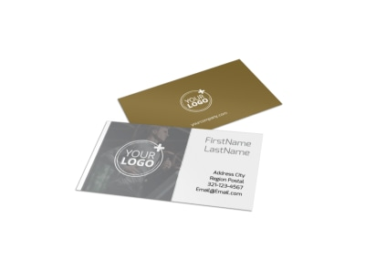 Local Health Club Business Card Template preview
