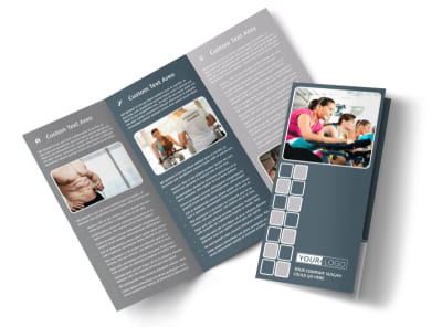 Cycling Fitness Center Tri-Fold Brochure Template