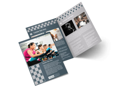 Cycling Fitness Center Bi-Fold Brochure Template