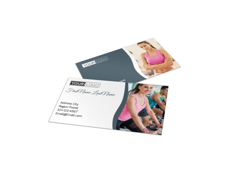 Cycling Fitness Center Business Card Template Mycreativeshop