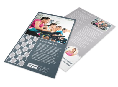 Cycling Fitness Center Flyer Template
