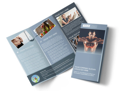 Body Transformation Program Tri-Fold Brochure Template