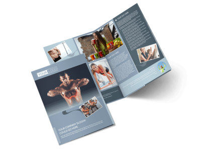Body Transformation Program Bi-Fold Brochure Template