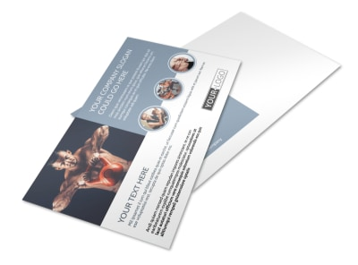 Body Transformation Program Postcard Template preview