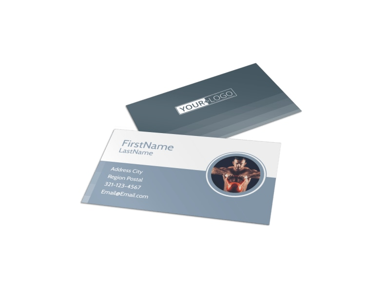 Body Transformation Program Business Card Template