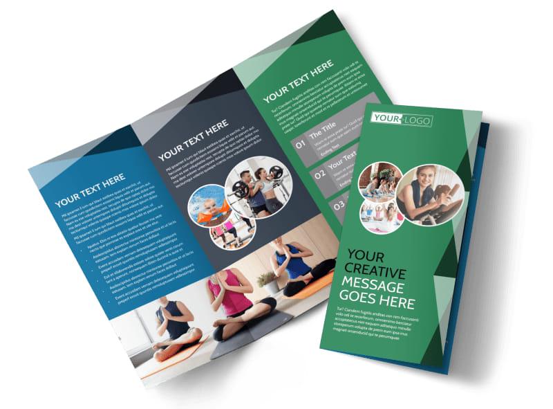 Family Wellness Center Tri-Fold Brochure Template