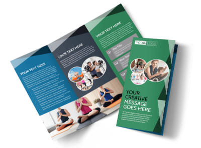 Family Wellness Center Tri-Fold Brochure Template preview