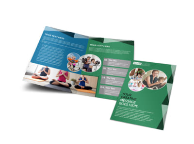 Family Wellness Center Bi-Fold Brochure Template preview
