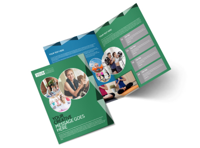 Family Wellness Center Bi-Fold Brochure Template