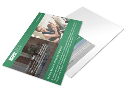 Family Wellness Center Postcard Template