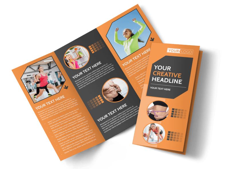 Get Lean Fitness Program Brochure Template  Mycreativeshop