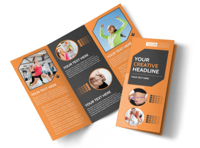 Get Lean Fitness Program Tri-Fold Brochure Template