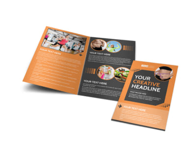 Get Lean Fitness Program Bi-Fold Brochure Template
