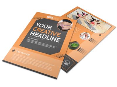 Get Lean Fitness Program Flyer Template